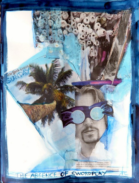 collage from Sunday NYT by Honoria Starbuck