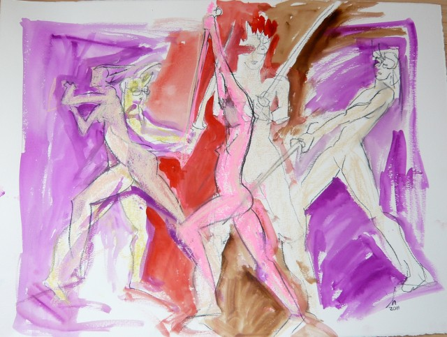 Gesture drawing by honoria starbuck January 2011