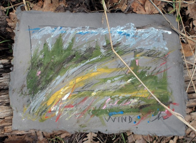 painting of the wind coming up the slope that Knut was flying on.  Honoria Starbuck Feb 2011