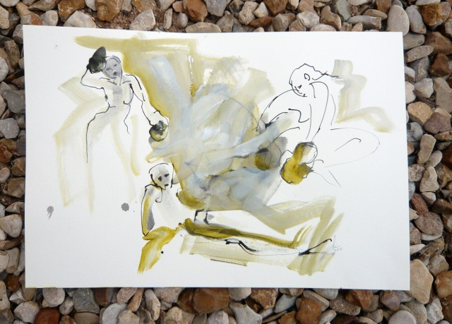 Life Drawing 1-minute gesture drawings by Honoria Starbuck from Naked Lunch April 2011