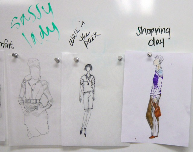 Fashion Drawing Student work Spring 2011 Art Institute of Austin