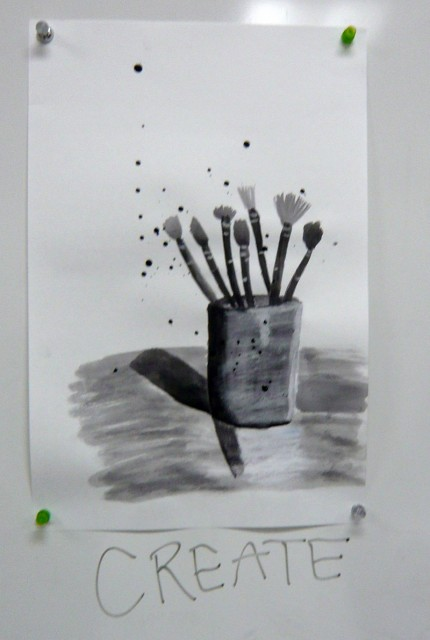 Student drawing ART 108 Observational Drawing Fall 2011 Honoria Starbuck Instructor