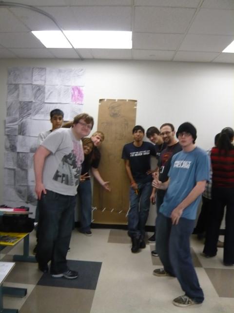 Winning Skeleton team - Anatomy class Day 1 Honoria Starbuck instructor