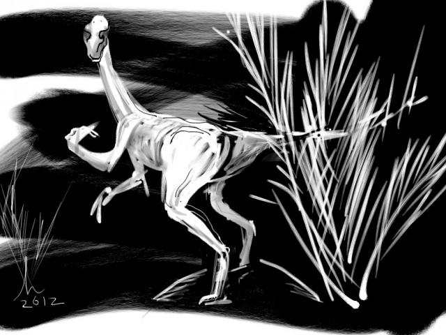 Zilker Park Dinosaur Garden Zen Brush iPad Drawing 16 JA 12 Honoria Starbuck