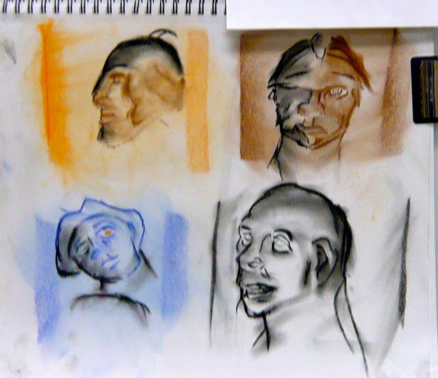 Student Drawing Anatomy Winter 2012 Honoria Starbuck instructor