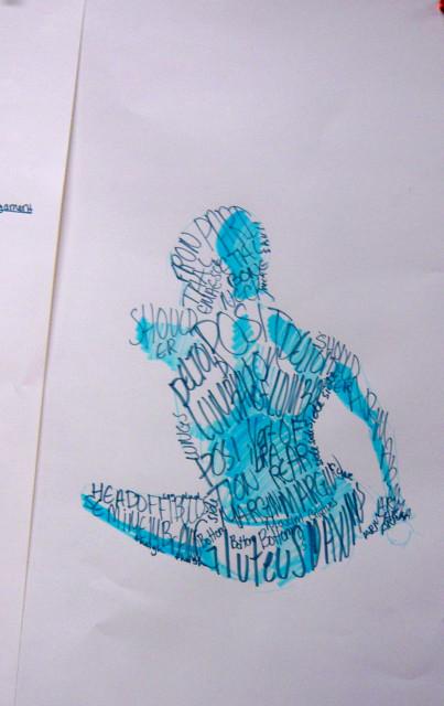 anatomy post mid-term drawing - Honoria Starbuck teacher
