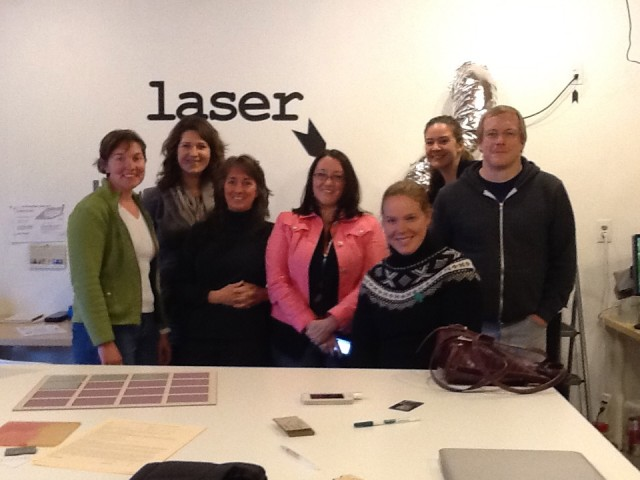 Laser class in laser cut rubber stamps at MAKEatx studio February 12, 2012