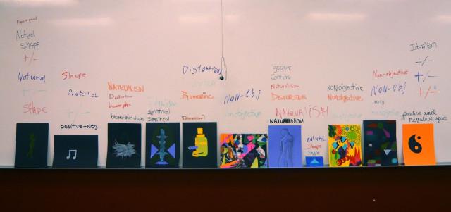 Student Work Design Fundamentals Shape Topics Illustrations Honoria Starbuck Instructor