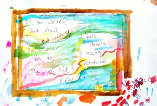 watercolor and poem