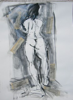 Life drawing by Honoria Starbuck - Miss D