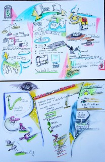 Graphic recording of architect meeting