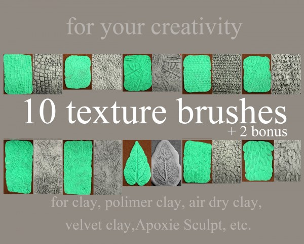 10 texture brushes set 1