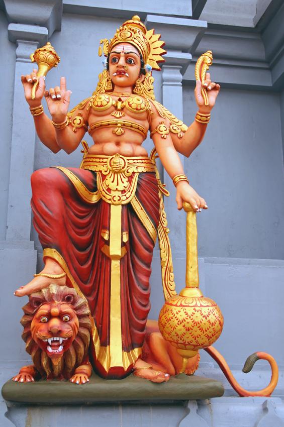 богиня со львом Джаффна мал