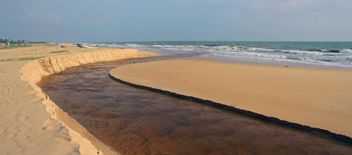 река в океане Муллайтиву мал