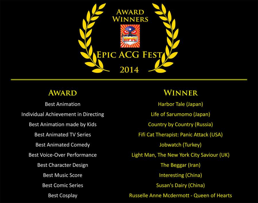 2014 EACG - Award Winners