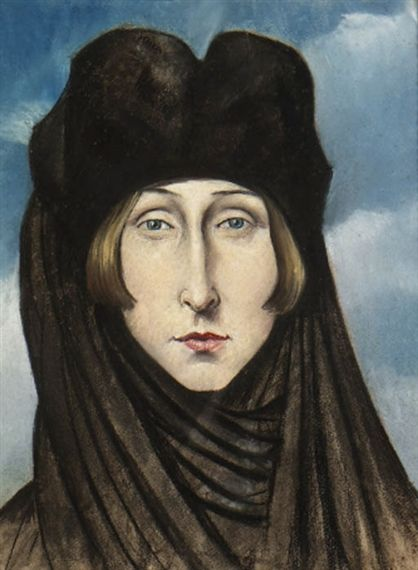 Portrait of Edith Sitwell by Christopher R. W. Nevinson