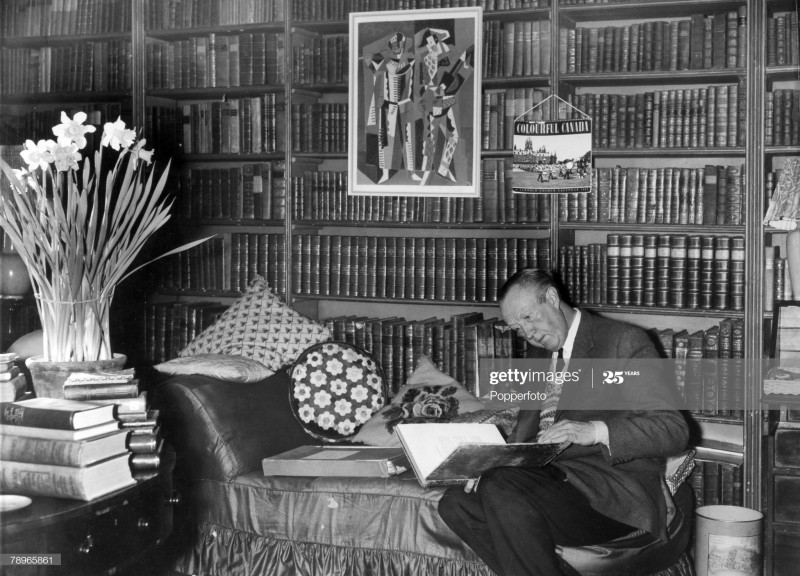 Sir Sacheverell Sitwell. 1969. Weston Hall (Photo by Popperfoto via Getty ImagesGetty Images)