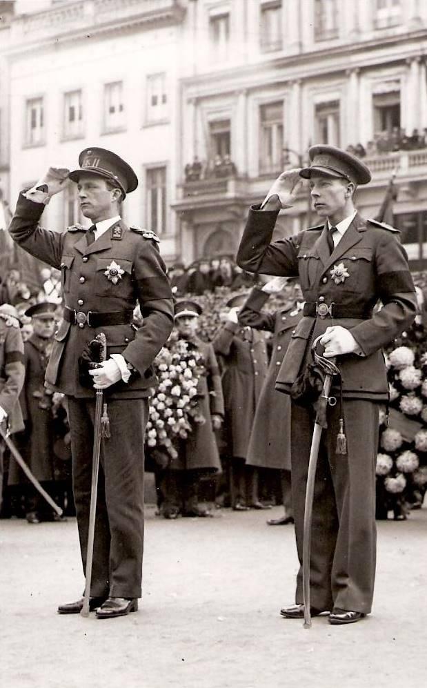 1934 г. Братья на похоронах отца, короля Альберта I