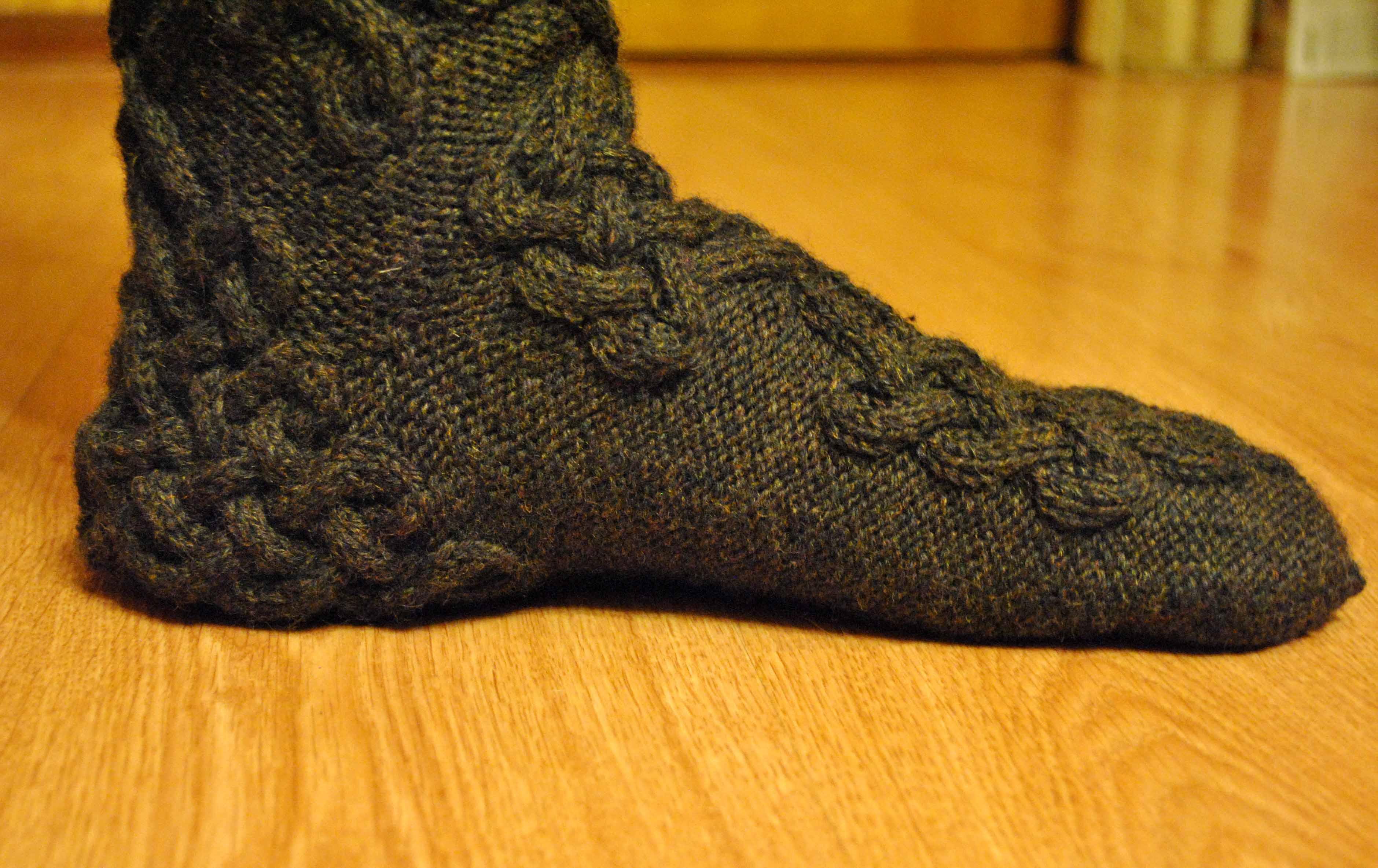 необычные носки » носки с пятки носки с пятки схема