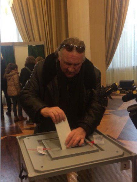 Депардье на выборах