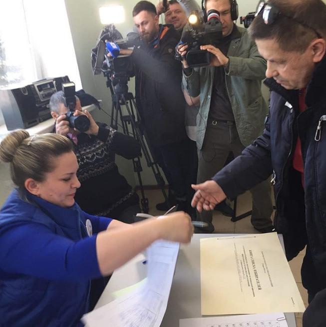 Николай Расторгуев на выборах 2018