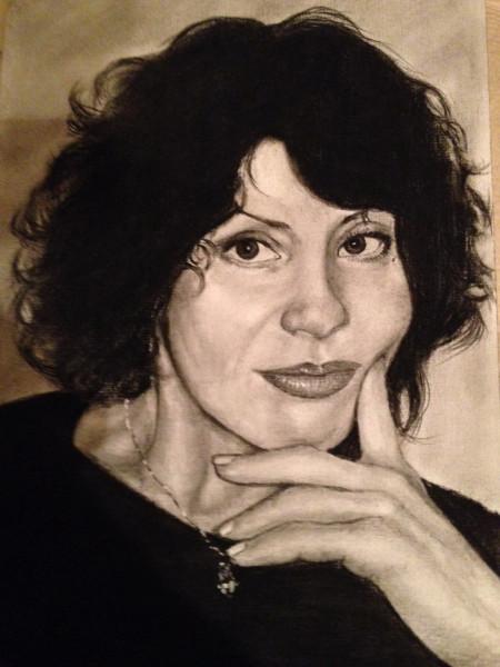 Саша нарисовал портрет Аллы Кинчиковой