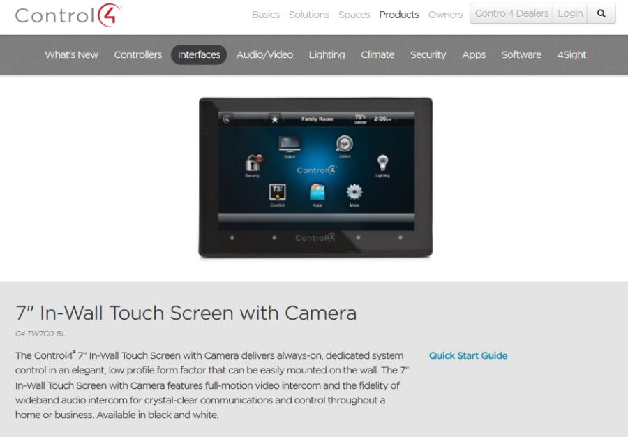 control4 screen