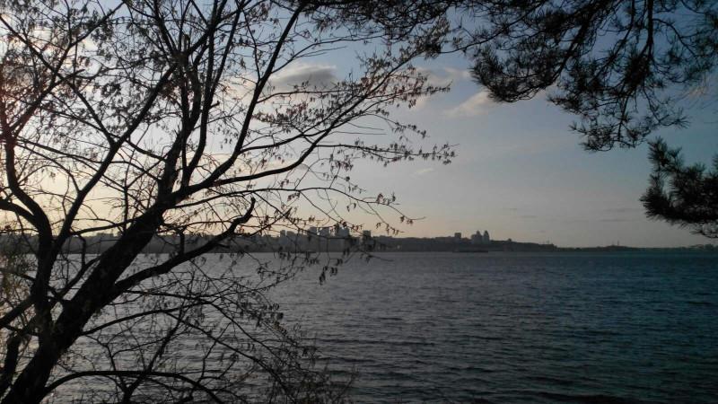 правый берег, виден  массив Победа и Центр Днепра