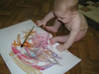 знакомство с красками палитрой