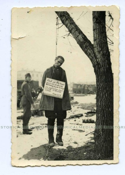 HANGED RUSSIAN PARTISAN W  SIGN