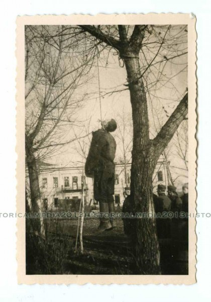 HANGED RUSSIAN PARTISAN IN TOWN