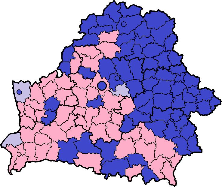 Синий — Новиковы, розовый — Новики, сиреневый — равное число профилей.