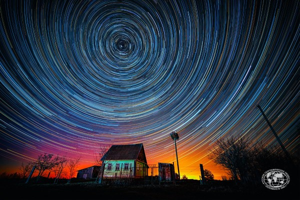 Звёздная ночь в духе Ван Гога