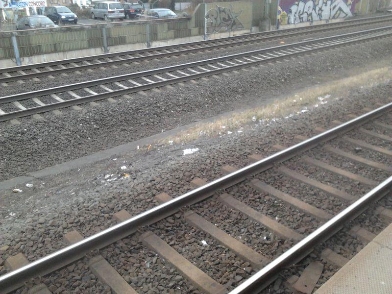 Железнодорожные пути, панорама