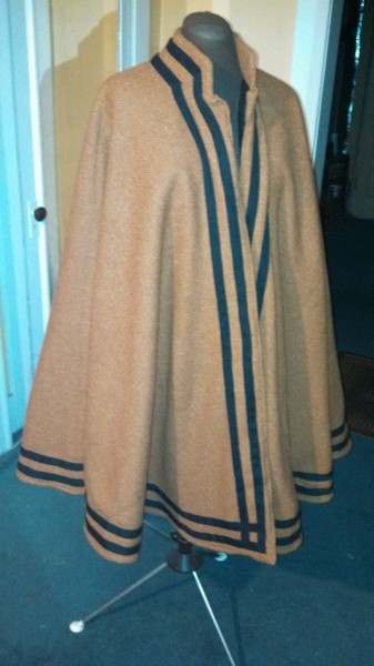 Completed cloak body - front view