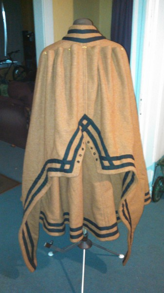 Cloak with Hood, Down - Back