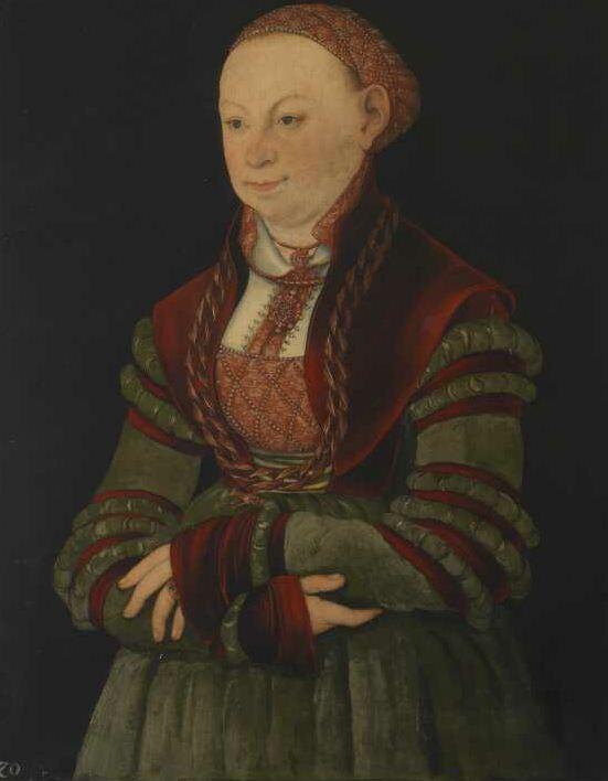 Lucas Cranach the Elder - Portrait of the Lady of Schleinitz (1526)