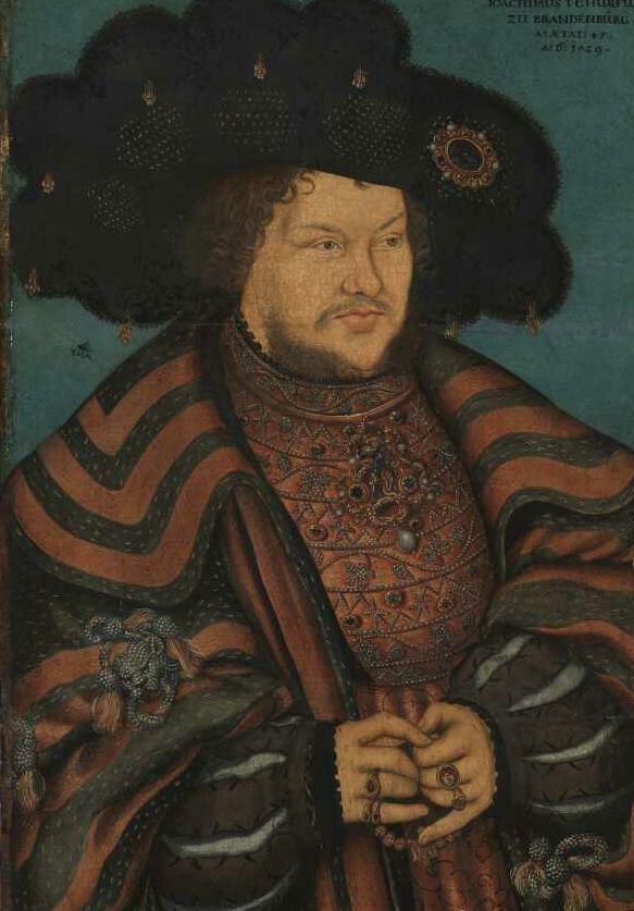 Lucas Cranach the Elder -  Portrait of Joachim I. Nestor, Elector of Brandenburg (1529)