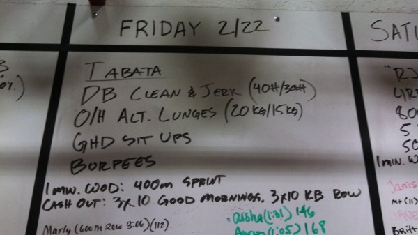 Friday, 3/22/13 - CrossFit
