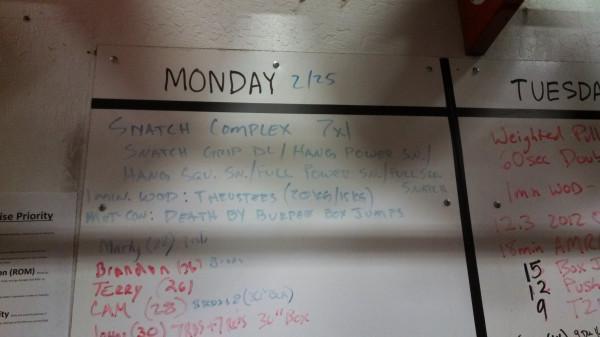 Monday, 2/25/13 CrossFit