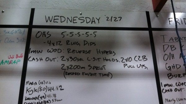 Wednesday, 2/27/13 - Crossfit