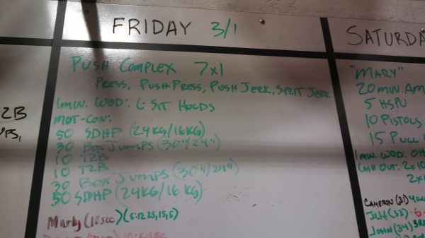 Friday March 1, 2013 - Crossfit