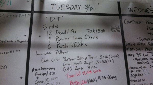 Tuesday March 12th - Crossfit