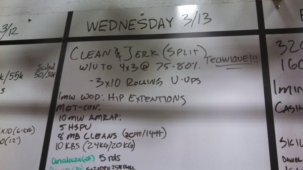 Wednesday, March 13th - Crossfit