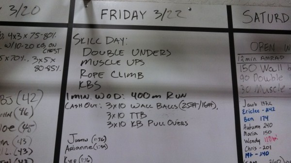 March 22 - Board - Crossfit