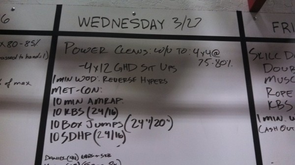 March 27 - Board - Crossfit