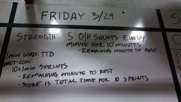 March 29 - Board Crossfit