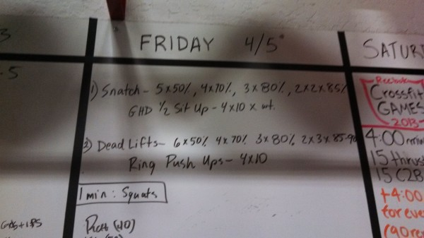 April 5 - Crossfit Board