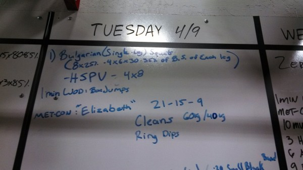 April 9 - Crossfit Board