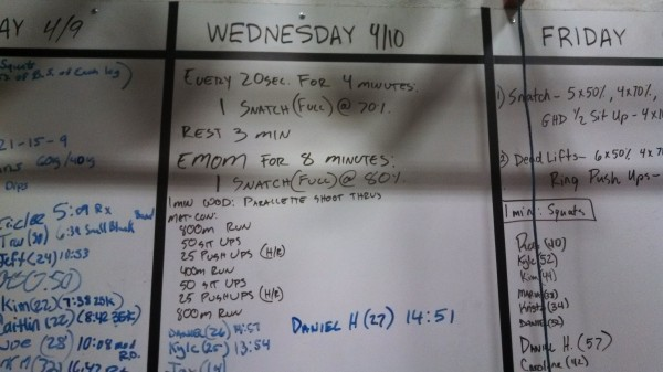April 10 - Crossfit Board